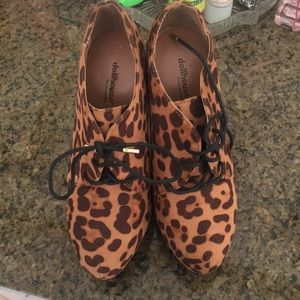 Dollhouse Brown Suede Cheetah Print Booties NWOT